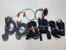 Lot Of Microsoft Xbox 360 Cords Video & Audio  - VGA Component Cables