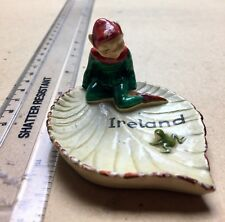 Vintage Irish Leprechaun on a Lilly Pad - An Old Pin or Ring / Earring Dish
