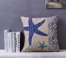 Star Fish Pillow / Cushion Cover - Beach Ocean Sea Theme Blue / Aqua / Turquiose
