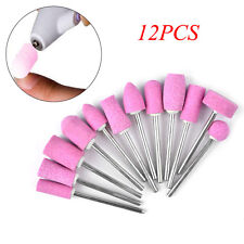 12Pcs/Set Nail Art Polishing Grinding Head Tool Nail Ceramic Electric Drill Bits