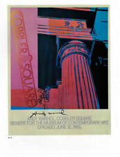 ANDY WARHOL POSTER ART ( PRINT) MUSEUM OF CONTEMPORARY ART CHICAGO 1985