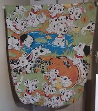 Disney 101 Dalmations Twin Fitted Sheet Craft Fabric Pond Frog Duck Flowers