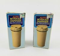 Auto Beverage Dispenser Spill Proof Hot/Cold Original Box Rare & Vintage 2 pack!