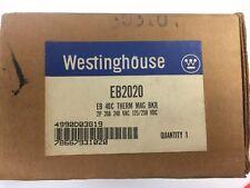 Westinghouse Eb2020 Eb 40C Therm Mag Bkr 2P 20A 240 Vac 125/250 Vdc
