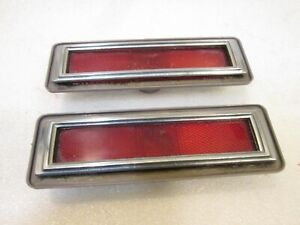 75 76 77 78 79 Chevy Nova Omega Rear Side Marker Light Lamp Lense & Chrome Bezel
