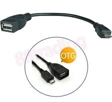 2 x USB en el camino Otg Host Cable Para Samsung Galaxy S4 I9500 I9190 S4 Mini