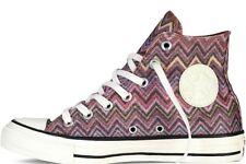 NIB MISSONI x CONVERSE Chuck Taylor All Star Hi Top Sneakers Sparkle Zigzag 9