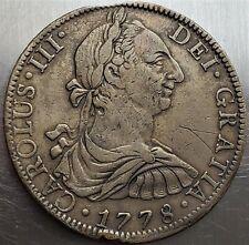 8 Reales 1778 FF Carlos III DEI·GRATIA Mexico Colonial SPANISH COLONY Very Rare