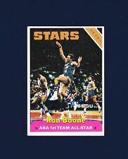 Ron Boone signed Utah Stars 1975 Topps basketball card