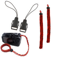 Quick Release Buckle Set & 2 Red Camo Braided Adjustable Camera Wrist Strap