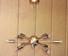 Vintage Industrial Antique Brass Hanging Ceiling Sputnik Chandelier with 12 Arms