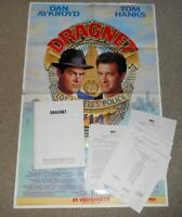 1987 DRAGNET Movie Poster scarce video release variety & press kit