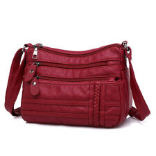 Women Bag Pu Soft Leather Shoulder Bag Multi-layer Crossbody Quality Small Bags