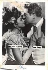 B55158 Francoise arnoul and Jean Gabin Couple Acteurs Actors 9x7cm