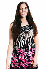 Women's Polyester Animal Print Classic Tunic, Kaftan Tops & Shirts