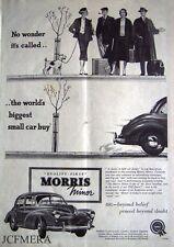 Morris Minor 1000 'Split Screen' 1955 Car ADVERT #3 - Original Magazine Print AD