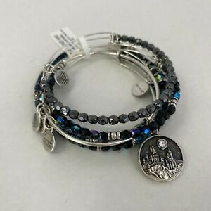NWT ~ Authentic ALEX AND ANI Harry Potter HOGWARTS CASTLE SET OF 5 Charm Bangles