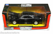 NEWRAY CITY CRUIZER 1969 DODGE CHARGER R/T BLACK 1/24 DIECAST CAR SS-71895BK