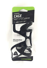 Cannondale Speed C Side Left Carbon Fiber Water Bottle Cage Gloss Black 28g