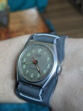 Gents Vintage Tara Sport Military Style Wind Up Watch - Working
