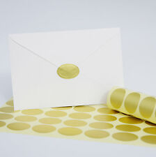50/Pack Gold Oval Embossed Foil Wedding Invitation Envelope Seal Stickers