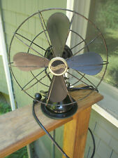 Vintage Antique Westinghouse Desk or Shelf Oscillating Fan  - Black - Nice!