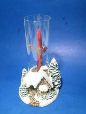 Thomas Kinkade Ceramic Candle Holder Memories of Christmas 2005, Candle & Lens