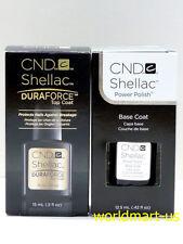 CND Shellac Gel UV Soak-Off Large DuraForce Top & Base Coat 0.5fl.oz