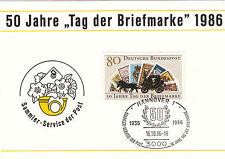 Hannover 50 J. giorno della FRANCOBOLLO SUPER SST 1986