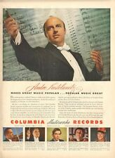 1943 Columbia Records Print Ad Conductor Andre Kostelanetz, Bruno Walter +4 more