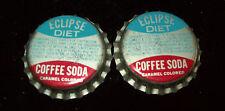 4 Vintage 1950's Eclipse Diet Coffee Soda Unused Soda Pop Bottle Caps