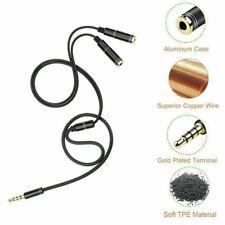 3.5mm Stereo Audio Splitter Jack Earphone Headphone 2 Way Y-Cable Lead Adapter