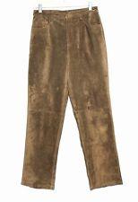 Brandon Thomas - 8 (M)  - Golden Brown !00% Suede Leather Straight Leg Pants
