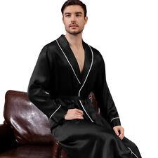 Mens Silk Satin Super Soft Robe  - 5 DAY  DELIVERY   USA -Seller -FAST SHIP !!!!