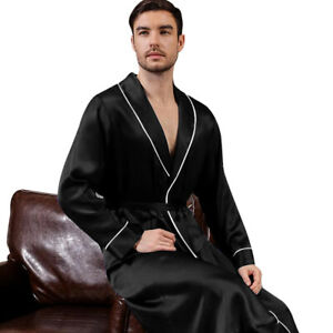 Mens Silk Satin Super Soft Robe