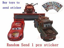 Mattel Disney Pixar Cars McQueen & Frank & Mater Gift Sticker Toy Car 1:55 Loose