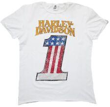 Authentique H D Classic Harley Davidson Strass Etats-Unis Number One