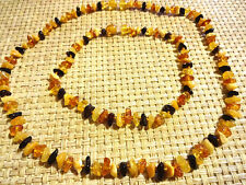 "Beautiful Mom and Children's Natural Baltic Amber Necklaces 18""and 11"""