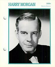 Harry Morgan 1950's Actor Movie Star Card Photo Front Biography on Back 6 x 7""