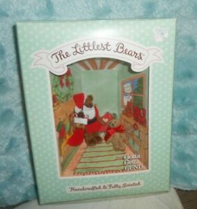 Gund The Littlest Bears #7010 Santa Claus & Elf Handcrafted & Fully Jointed