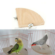 17cm Wooden Coin Parrot Bird Cage Perches Stand Platform Pet Budgie Hanging Toy