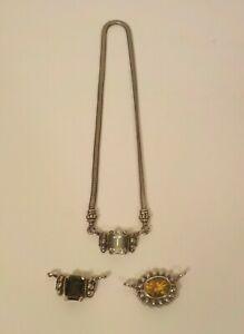 "Lagos CAVIAR Sterling Silver 18"" Snake Necklace & 3 Enhancers, 18 K Gold Trim"