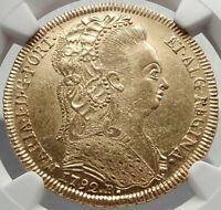 1791 BRAZIL Queen MARIA I Antique GOLD 6400 Reis Brazilian Coin NGC MS i70401