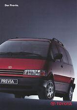 Prospekt Toyota Previa 1991 Autoprospekt 1 91 brochure Auto Pkw Japan brosjyre