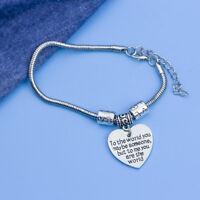 DIY Stainless Steel Letters Printed Cross Peach Heart Penguin Bracelets