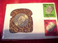 1972 #LE-42a 99 COMPANY FIRST DAY FIRST ISSUE COMMEMORATION OF1970 GUYANA DOLLAR