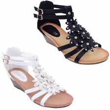 Floral Synthetic Upper Material Kitten Heels for Women