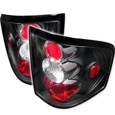 Ford 04-08 F150 Black Euro Style Rear Tail Light Brake Lamp Set Flareside