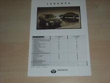 49948) Daewoo Leganza technische Daten & Ausstattungen Prospekt 1998