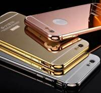 Luxury Ultra Thin Mirror Back Metal Bumper Case Cover for Apple iPhone 6/6